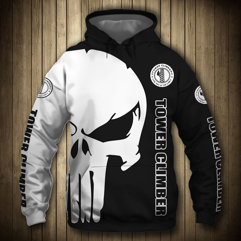 Tower Climber Punisher Skull 3d Hoodie Shirts Jacket Gogistyle Com